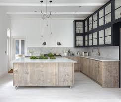 White Washed Cabinets Kitchen White Washed Wood Floor Meets Home With Industrial Style Homesfeed