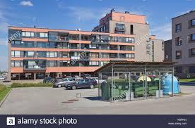 vilnius lithuania august 19 2016 empty car parking near stock