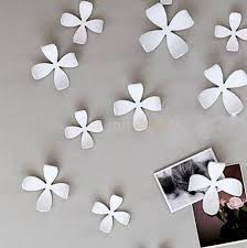 Awesome Wall Decor by Cool White 3d Flower Wall Decor White Metal Flower Wall Trendy