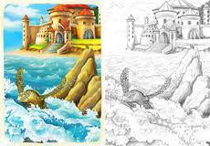 ocean mermaids coloring stock photography