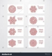 set business card templates vintage decorative stock vector