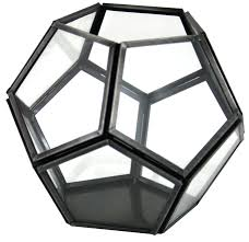 metal and glass dodecahedron tea light holder