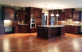 what color wood floor looks with cherry cabinets cherry kitchen cabinets with kitchens with cherry cabinets