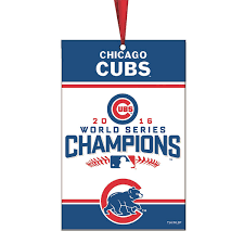 chicago cubs 2016 world series chions banner ornament mlbshop