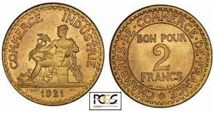 chambre commerce industrie bon pour 2 francs 1920 à 1927 commerce et industrie