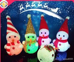 decorations light colorful snowman doll desktop led