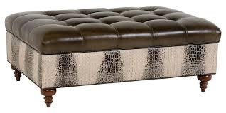 ottoman gray leather ottoman coffee table living room ottoman
