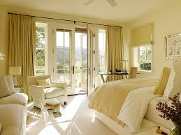 Window Treatment For French Doors Bedroom French Door Curtains Bedroom Traditional With Cream Drapes Beige