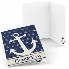 nautical thank you cards ahoy nautical baby shower thank you cards 8 ct