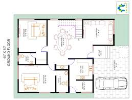 50 Square Feet by 4 Bhk Floor Plan For 40 X 50 Plot 2000 Square Feet 222