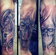 Forearm Skull - top 80 best skull tattoos for manly designs and ideas