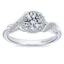 twisted shank engagement ring shae 14k white gold halo vault jewelers sarasota