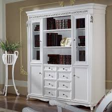 Cherry Bookcase With Glass Doors by Cherry Bookcase With Leaded Glass Doors And Open Side Bookcases