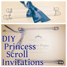 Scroll Invitations Diy 3 Diy Invitations To Use During Your Disney World Trip Wdw Prep