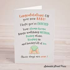 funny new baby card card for pregnant friend funny new parents