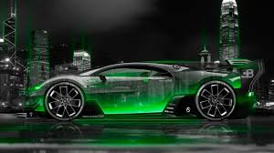 bentley night bugatti vision gran turismo side crystal city night car 2016