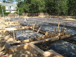 new home foundation foundation framing home built by watermark builders houston tx