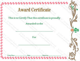accolades to you award certificate template