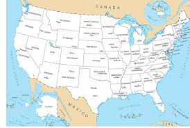 United States Map With Alaska by United States Map With All States U0026 Capital Cities