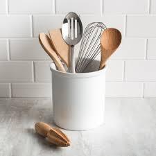 kitchen utensil canister ksp basics porcelain utensil holder white kitchen stuff plus