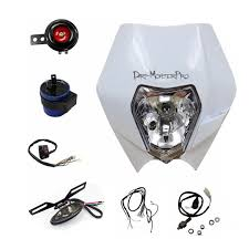 white rec reg head tail light kit for yamaha yz450 wr450 wr250