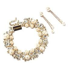 costume jewelry pearl necklace images Holylove 5 colors costume statement necklace for women jpg
