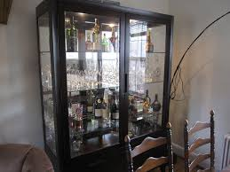 Glass Door Bar Cabinet Furniture Awesome Brown Liquor Cabinet Ikea Made Of Wood With