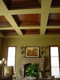 faux wood coffered ceiling this coffered ceiling was constructed