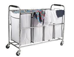 Laundry Hamper 3 Compartment by Amazon Com Saganizer 4 Bag Laundry Organizer Chrome White