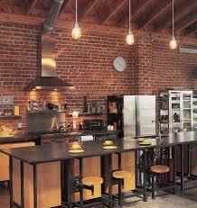 cuisine en brique afficher l image d origine cuisine industrial loft