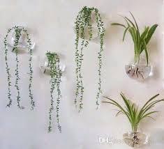 floor plants home decor set of 5 blown glass wall vase bubble terrariums blown glass
