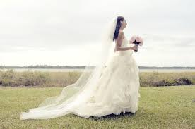bridal portrait vera wang ballgown wedding dress