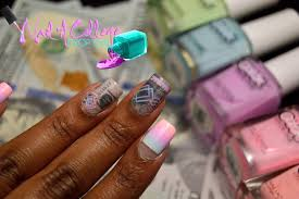 nail a college drop out neon shmoney nails