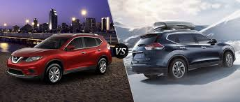 red nissan rogue 2016 nissan rogue sv vs sl