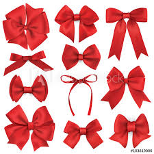 big present bow big set of realistic gift bows and ribbons buy this stock