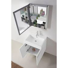 abodo 24 inch wall mounted white bathroom vanity