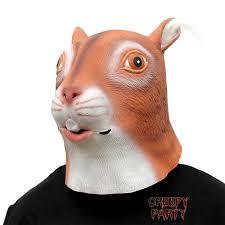 squirrel u2013 animal halloween head mask u2013 creepyparty head mask
