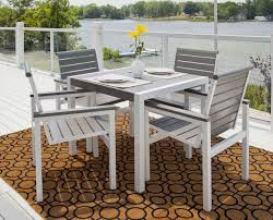 simple polywood outdoor furniture as idea exterior home design