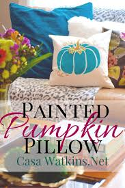 halloween pillows a non traditional painted pumpkin pillow create and share casa