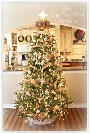 white and gold christmas trees u2013 happy holidays