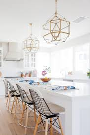Pendants For Kitchen Island by White Kitchen With Brass Pendants Heart Of The Home Pinterest