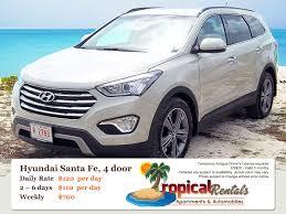 rent a hyundai santa fe car rentals in antigua rentals and rates cars 4x4 s suv vans