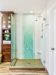 vertical accent tile in a glass shower gorgeous bathrooms