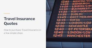 Travel insurance canada quote buy now