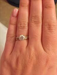 plain engagement ring with diamond wedding band does anyone a pave engagement ring with a plain wedding band