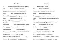is are and was were worksheet ks1 ks2 by szubert teaching