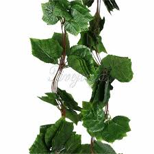 Fake Plants Aliexpress Com Buy 1piece Big Leaf Grape Garland Plants Ivy Vine