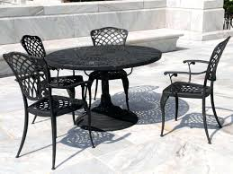 patio ideas white cast aluminum patio furniture image of black
