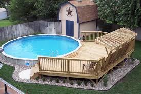 backyard deck with pool home u0026 gardens geek