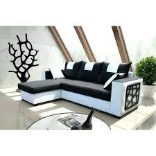 canapé simili cuir blanc pas cher canape angle noir et blanc incroyable canape d angle noir et blanc